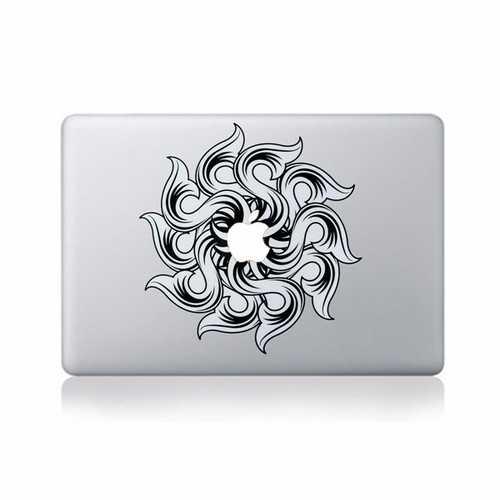 Black Decal Vinyl Sticker Skin Laptop Sticker Decal For Apple Macbook 11'' 12'' 13'' 15'' 17''