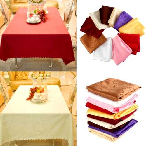 120cm Polyester Absorbent Square Tablecloth For Hotel Restaurant Wedding Decor