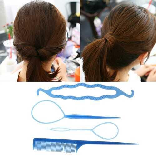 Lady Hair Twist Styling Clip Stick Bun Maker Braid Hair Accessories Tool