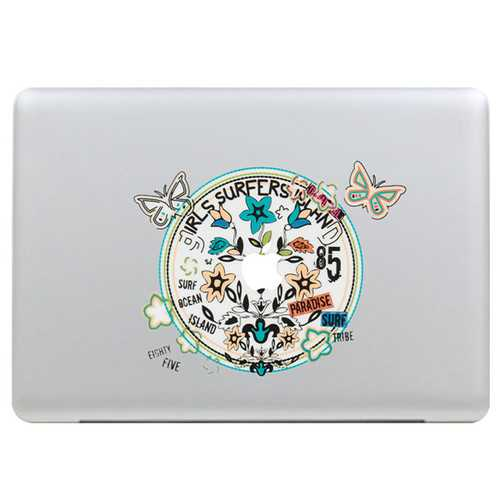 Butterfly Wreath Decal Vinyl Sticker Skin Shell Decoration Laptop Sticker Decal For Apple MacBook