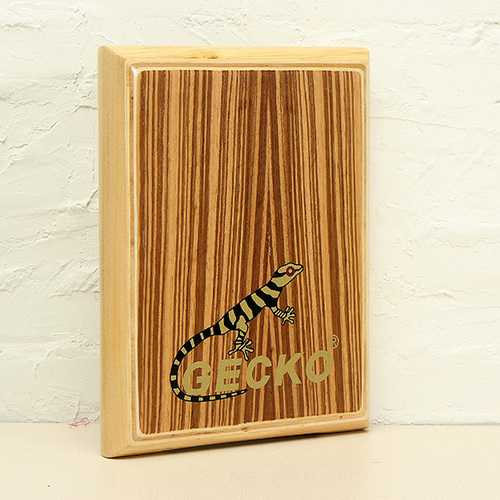 Gecko Percussion PAD-2 Zebra Wood Cajon Drum with Bag