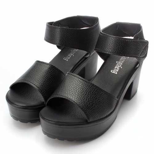 Fashion Women Summer Chunky High Heel Sandals Soft Ankle High Platform Shoes
