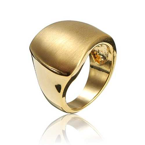 Silver Gold Irregular Polished Alloy Metal Finger Ring For Women