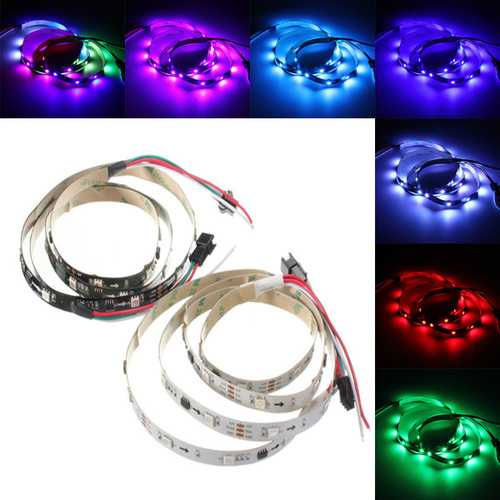 1M 7.2W DC 12V WS2811 30 SMD 5050 LED RGB Changeable Flexible Strip Light Individually addressable