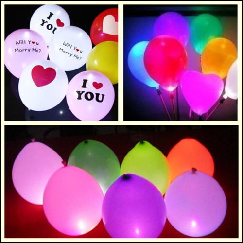 25pcs 1.7cm Round LED Balloon Light Lamp Glowing Balloon Lights Birthday Wedding Party Decoration