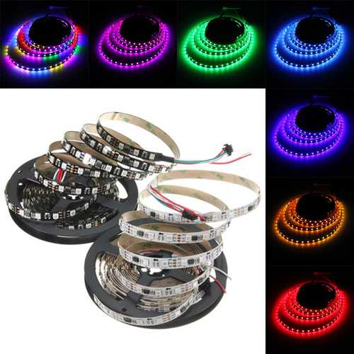 5M 57.5W DC 12V WS2811 300 SMD 5050 LED RGB Changeable Flexible Strip Light Individually addressabl
