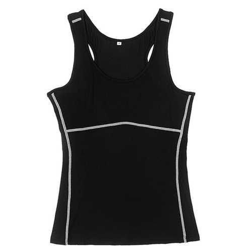 Women Compression Yoga Sport Running Tank Top Vest Clothing Shirt Gym Wear