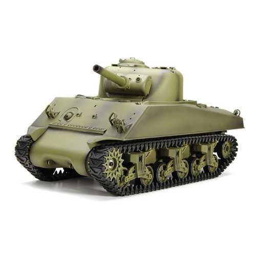 Heng Long 3898-1 2.4G 1/16 US Sherman M4A3 Tank RC Battle Tank Models