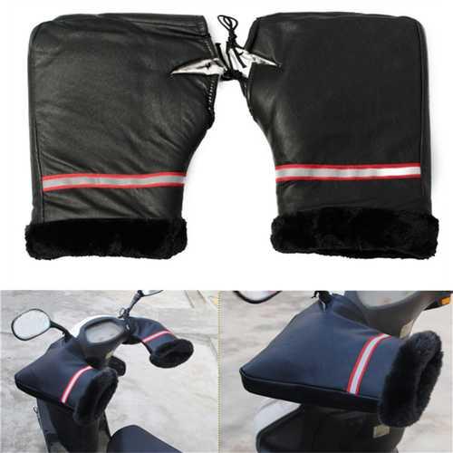 Motorcycle Bike HandleBar Grip Muffs Hand Cover Gloves Winter Waterproof