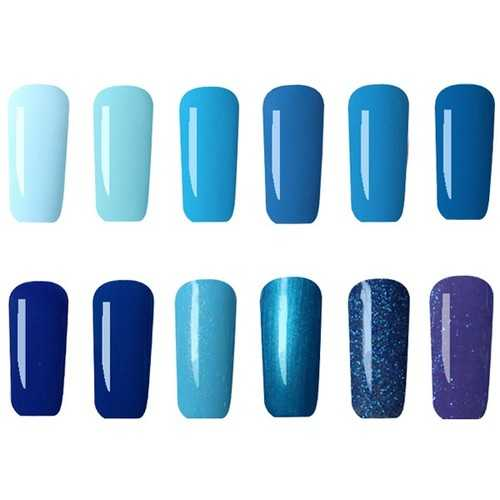 12 Colors Nano UV Gel Polish Blue Color System Dreamlike Soak-off Nail Charming