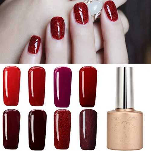 12 Colors Nano Wine Red Color System Nail Art UV Gel Polish Soak-off 12ml