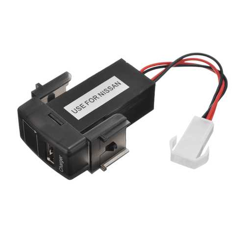 JZ5002-1 Jiazhan Car Battery Charger Voltmeter 2.1A USB Port Dedication Modify Only for Nissian