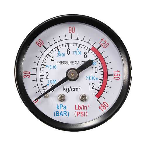 "1/4"" BSP Thread 0-180PSI 0-12Bar Air Pressure Gauge For Air Compressor Iron"