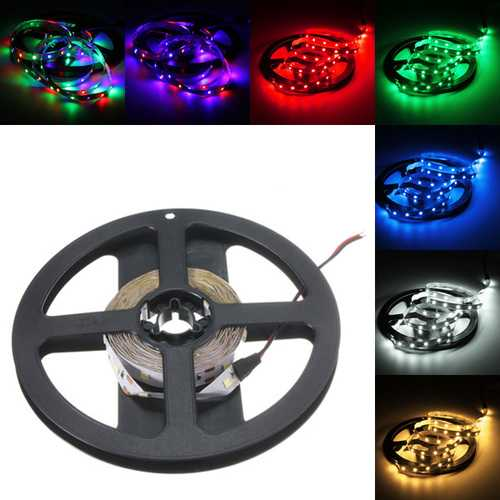 3M DC12V 14.4W 180 SMD 3528 Non-waterproof Red/Blue/Green/White/Warm White/RGB Flexible LED Strip