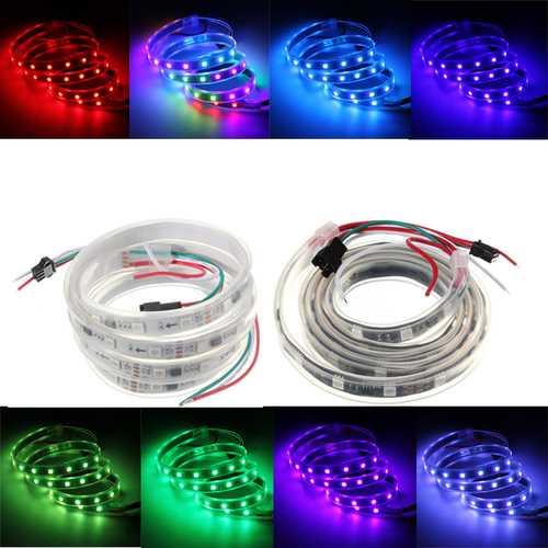 WS2811 1M LED Strip 48 SMD 5050 RGB Dream Color waterproof IP65 DC 12V
