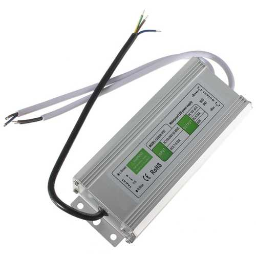 80W Waterproof IP67 LED Driver Transformer Power Supply AC110V-260V to DC12V