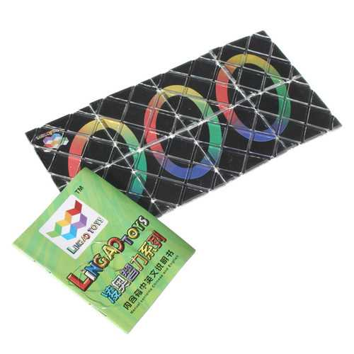 8 Panel 3 Ring Magic Folding Puzzle Toy Ghost Hand