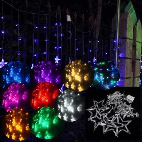 2M 138 LED Christmas Wedding Xmas Party Decor String Fairy Window Wall Star Light