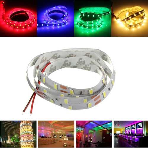 1M 17W DC12V 60 SMD 5630 Non-waterproof White/Warm White/Red/Green/Blue LED Flexible Strip light