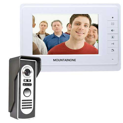 ENNIOSY819M11 7 inch TFT Video Door Phone Doorbell Intercom Kit with 1 Camera 1 Monitor Night Vision