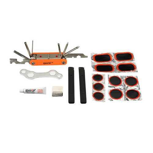 Bicycle Tools Tyre Repair Box Mountain Bike Repair Tools Portable Tools Combination