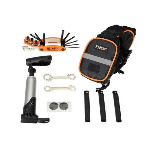 15 in 1 Multifunction Tool Bicycle Tools Kit Mountain Bike Tail Bag Bike Tire Repair Tools