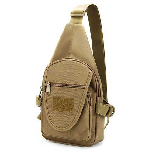 Men Oxford Backpack Shoulder Chest Hiking Military Bag