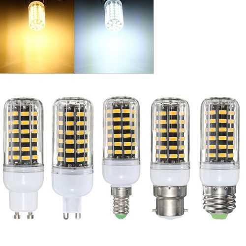 E27 E14 B22 G9 GU10 7W 64 SMD 5733 1000LM  LED Warm White White Cover Corn Bulb AC 220V