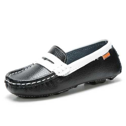 Children Shoes Kids Leather Sneakers Boat Footwear Girls Boys Slip on Loafers