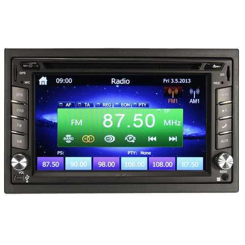GPS Navigation 1080P HD 2DIN Car Stereo DVD Player bluetooth iPod MP3 Camera