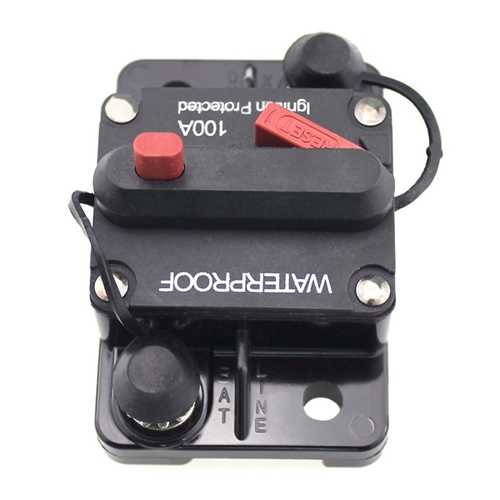100A Car Boat RV Ignition Protected Switch Manual Reset Circuit Breaker Resettable Fuse Holder