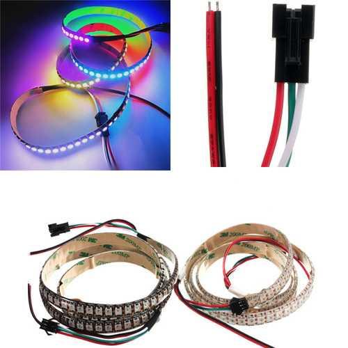 5V WS2812B 43W 144 SMD 5050 RGB LED Strip Waterproof IP65 Individual Addressable