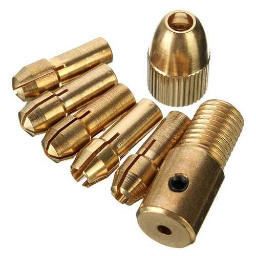 8pcs 0.5-3mm Micro Twist Drill Chuck Set Small Electric Drill Bit Collet with Allen wrench