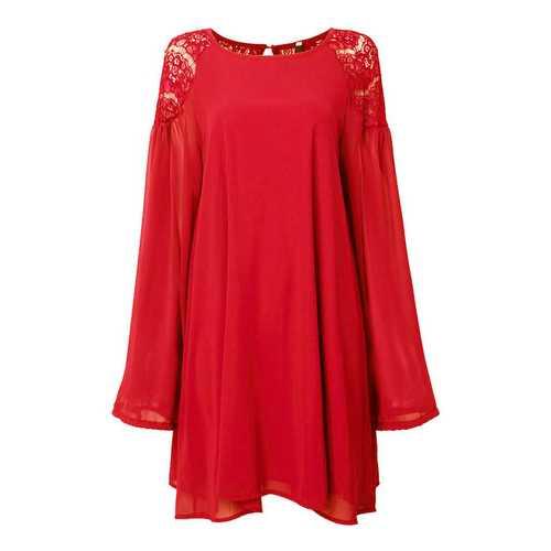 Casual Lace Chiffon Lantern Sleeve Backless Mini Dress For Women