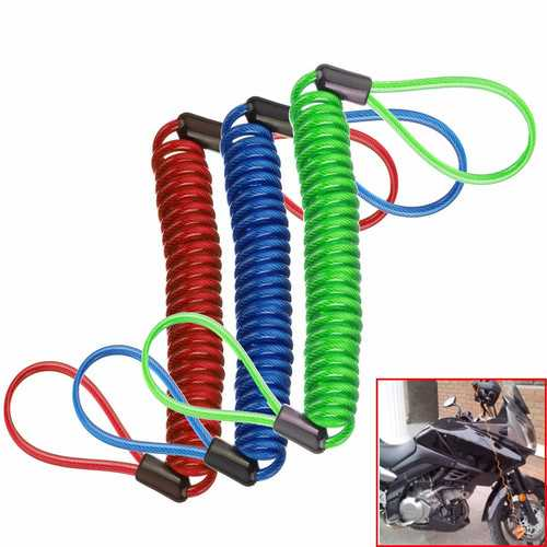Alarm Disc Lock Security Spring Reminder Cable Motorcycle Bike Scooter