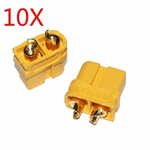 10 Pairs Upgraded Amass XT60U Male Female Bullet Connectors Plugs for Lipo Battery
