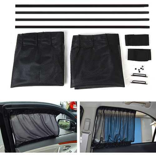 2X 50*39cm Simple Car Mesh Cotton Curtains Window Sunshade Sun Protection