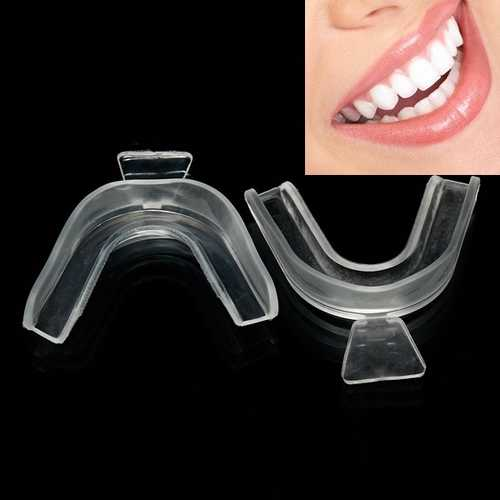 5 Pairs of Transparent Night Guard Teeth Whitening Grinding Mouth Trays Shield Gum Dental Equipment