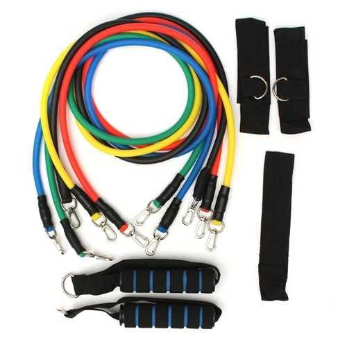 11Pcs Resistance Band Practical Elastic Training Rope For Yoga Pilates Workout