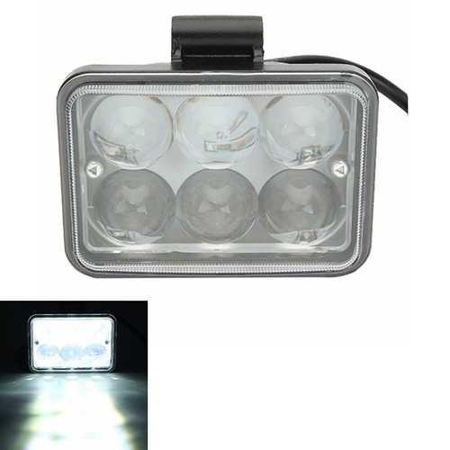 12V 18W 7000K Motorcycle Super Bright Spot Lightt LED Headlights Lens Side Six Lamp Lights
