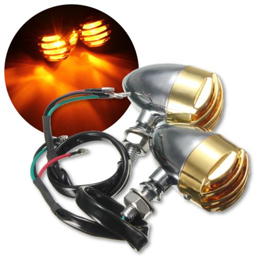 Motorcycle Bullet Turn Signal Blinker Light Indicator Amber For Harley Honda Yamaha