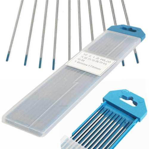 10pcs Tungsten WL20 1/16inch x7inch 2 Percent Lanthanated Blue Tip TIG Electrode 1.6mmx175mm Weld Welding Machine Accessories