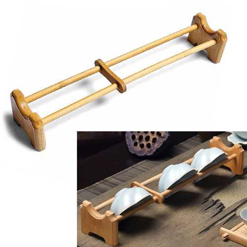 Natural Bamboo Tea Cup Holder Single Layer Tea Cup Holder Kungfu Tea Accessaries
