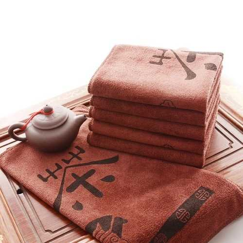 Superfine Fiber Tea Towel Super Water Absorption Tea Towel Kungfu Tea Accessaries