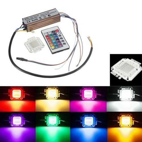 100W RGB Chip Light Bulb Waterproof LED Driver Power Supply with Remote Controller