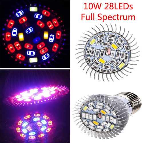 10W Full Spectrum SMD5730 LED Grow Bulb Greenhouse Hydroponics Plant Seedling Lamp