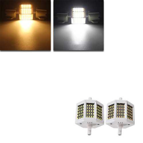 Dimmable R7S 78mm 8W 60 SMD 4014 LED Black Plate Warm White White Lamp Light Bulb AC220V/AC110V