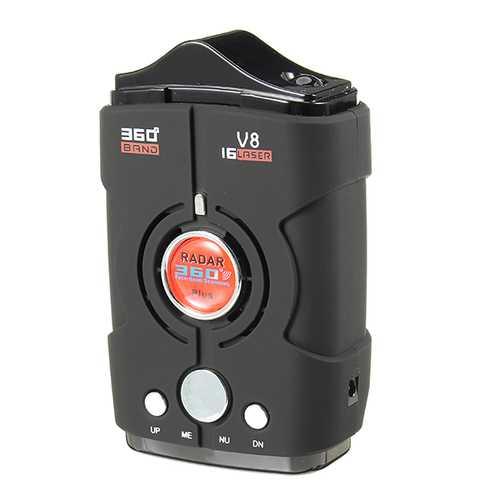 V8 360 degree Full-Band-Scanning Voice Anti Radar Detector