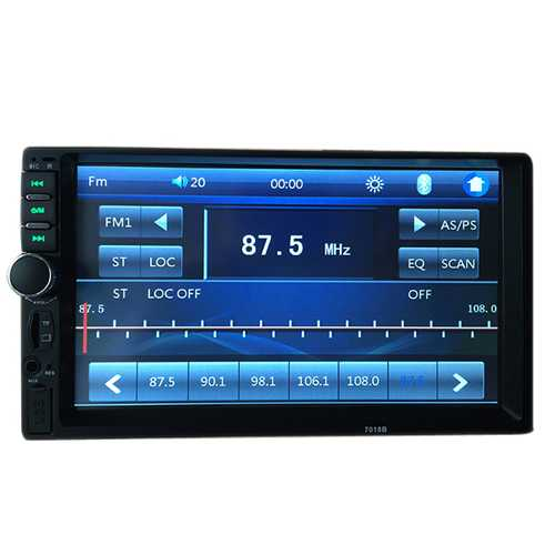 7018B 7 Inch HD Bluetooth Car Stereo Touch Screen MP5 MP4 Display Long Version support Rear View