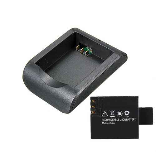 3.7V Li-ion Battery Charger Case and 3.7V 900mAh Li-ion Battery for SJCAM SJ4000 SJ5000 Plus SJ5000X M10 Plus